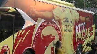Manajemen Sriwijaya FC Luncurkan Bus Tim Baru