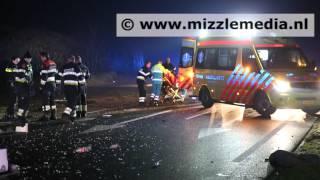 Ernstig ongeval op de Zeeweg in Overveen ter hoogte van camping Bloemendaal