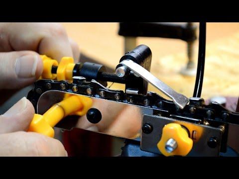 Harbor Freight Chainsaw Sharpener, Full Video
