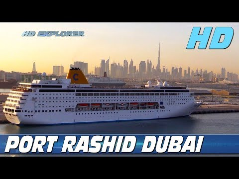 Cruise ship docking in Dubai (Port Rashid)