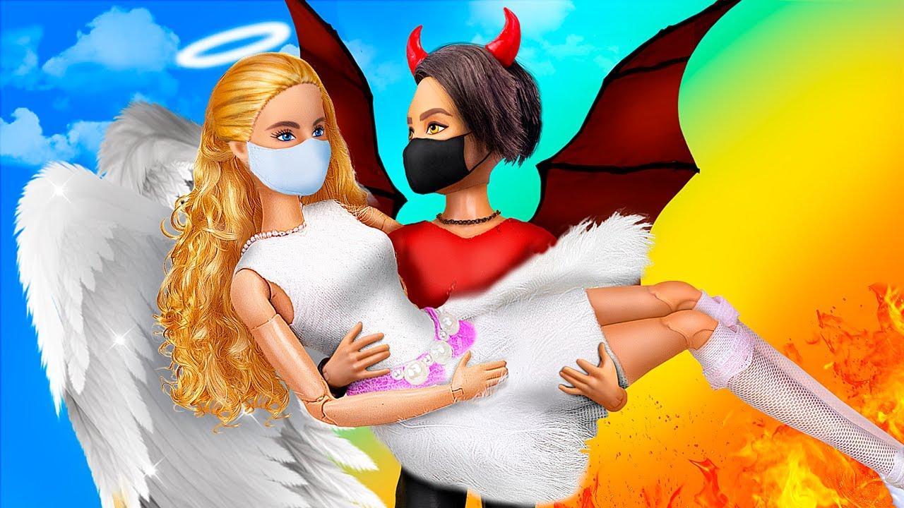 Engel und Dämon in der Quarantäne / 11 Barbie-Puppe DIYs
