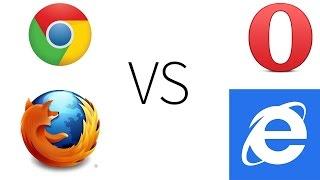 Chrome 39 vs Firefox 34 vs Opera 26 vs IE11 (Chapter 1-PC)