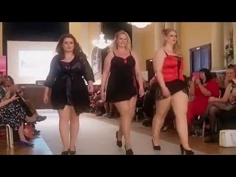 Fashion Week Plus Size 2017 - Plus Size women Fashion In Hamburg - Large Rear - Fashion Show. -newe