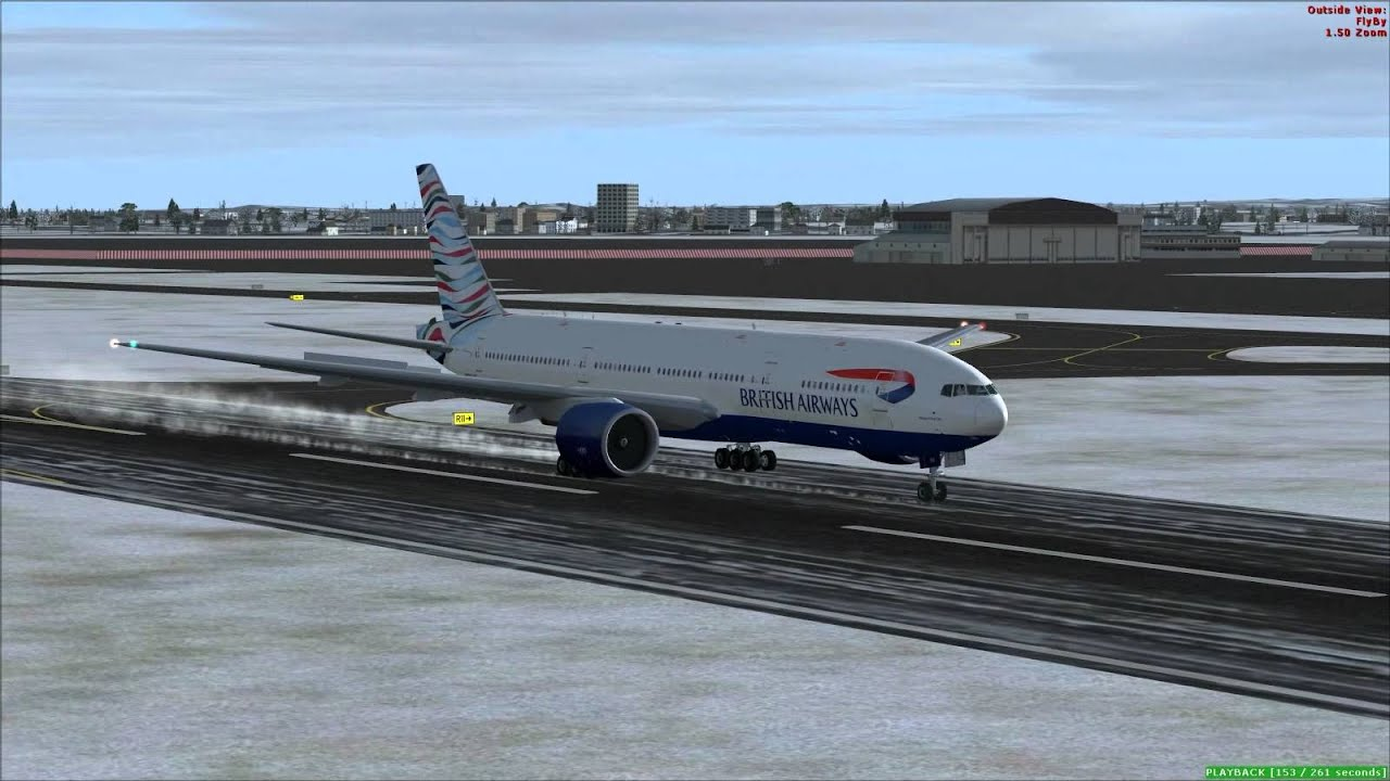 Fsx - Boeing 777-300er British Airways Package With New Vc