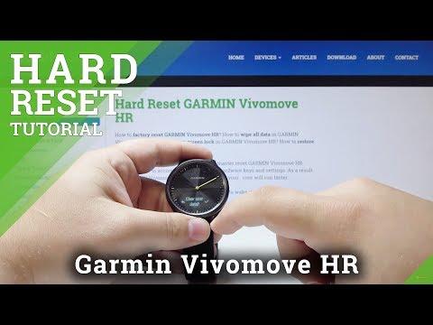 How to Factory Reset GARMIN Vivomove HR - Hard Reset in