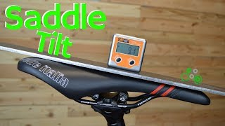 Bicycle Saddle Tilt : What do the pros do? What should you do?