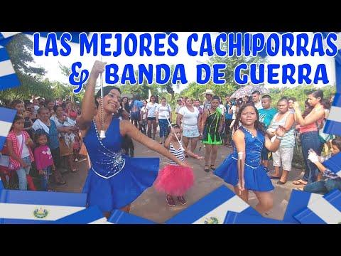 🇸🇻LA MEJOR BANDA & CACHIPORRAS DE EL SALVADOR🇸🇻. Desfile de la independecia al estilo 4K.Parte 5