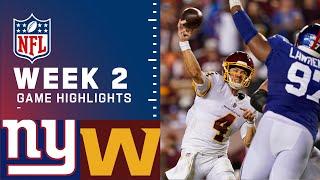 Giants vs. Washington Week 2 Highlights | NFL 2021