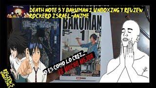 Death note 3 y bakuman 1 review y unboxing