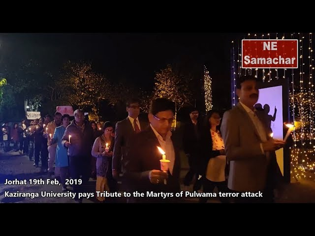 Kaziranga University pays tribute to Martyrs of Pulwama terrorist attack