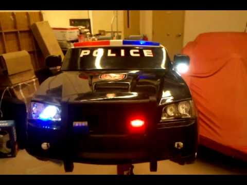 kid trax ride on dodge charger police car with led police light flashers youtube