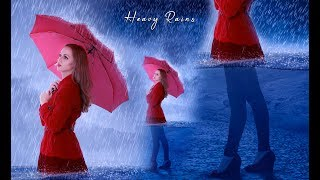 Heavy rain photo Manipulation in Photoshop tutorial