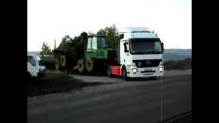 Mercedes Actros heavy trailers and forwarder