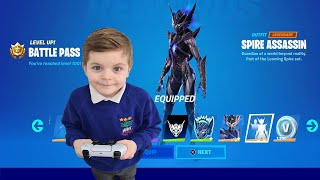 After School TRUMAnn Giving His 7 Year Old Kid TIER 100 SPIRE ASSASSIN - Fortnite Primal BattlePass