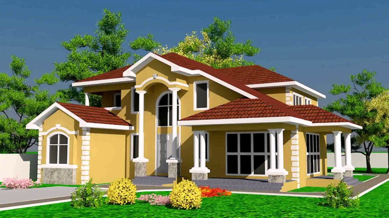 House designs and floor plans ghana youtube for Ghana house plan