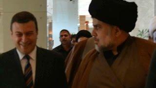 السيد مقتدى الصدر يخرج غاضبآ من اجتماع التحالف الوطني في كربلاء !!