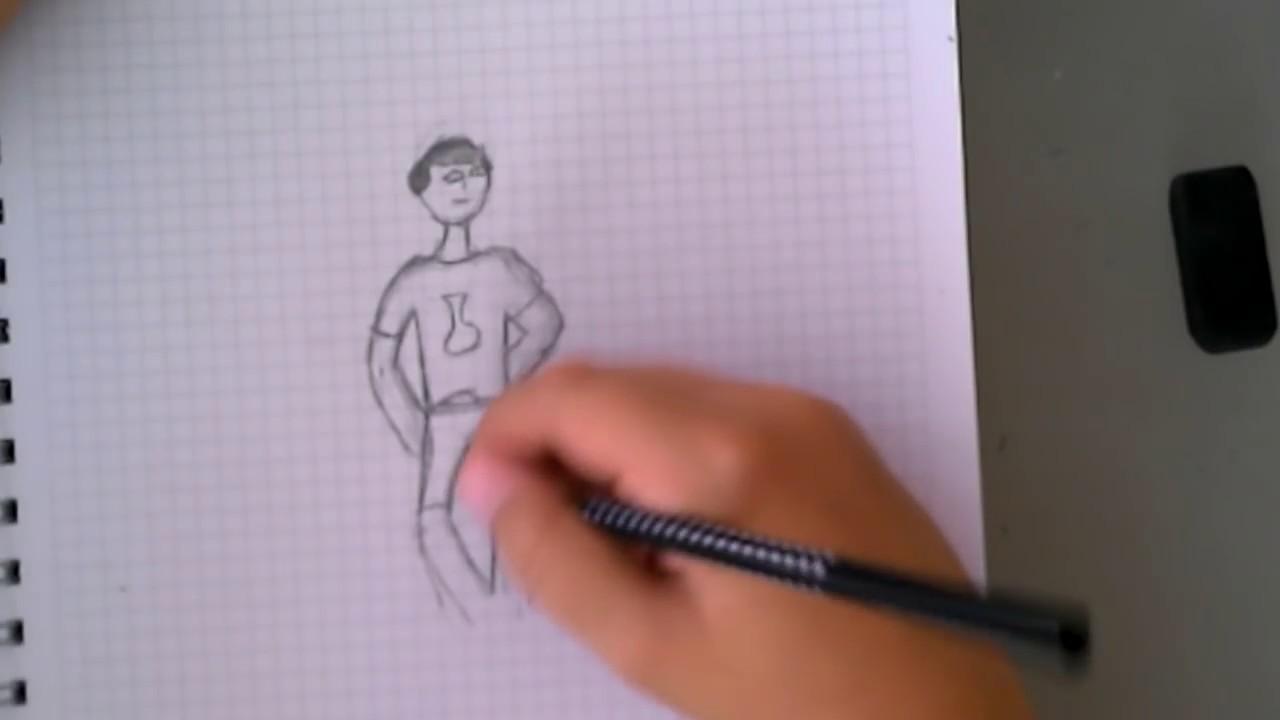 Kara Kalem Ile Basit Bir çocuk çizme Youtube