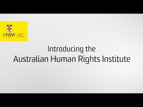 Introducing the Australian Human Rights Institute