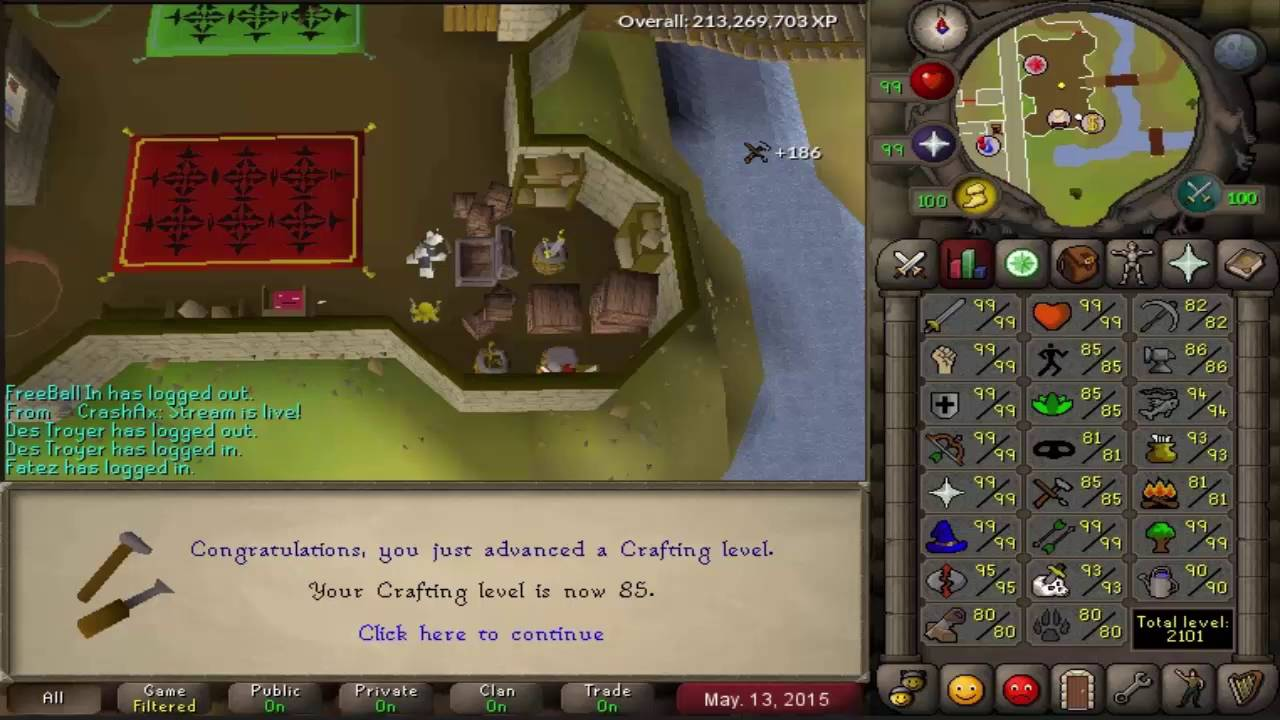 Getting 2277 Max Total On Runescape