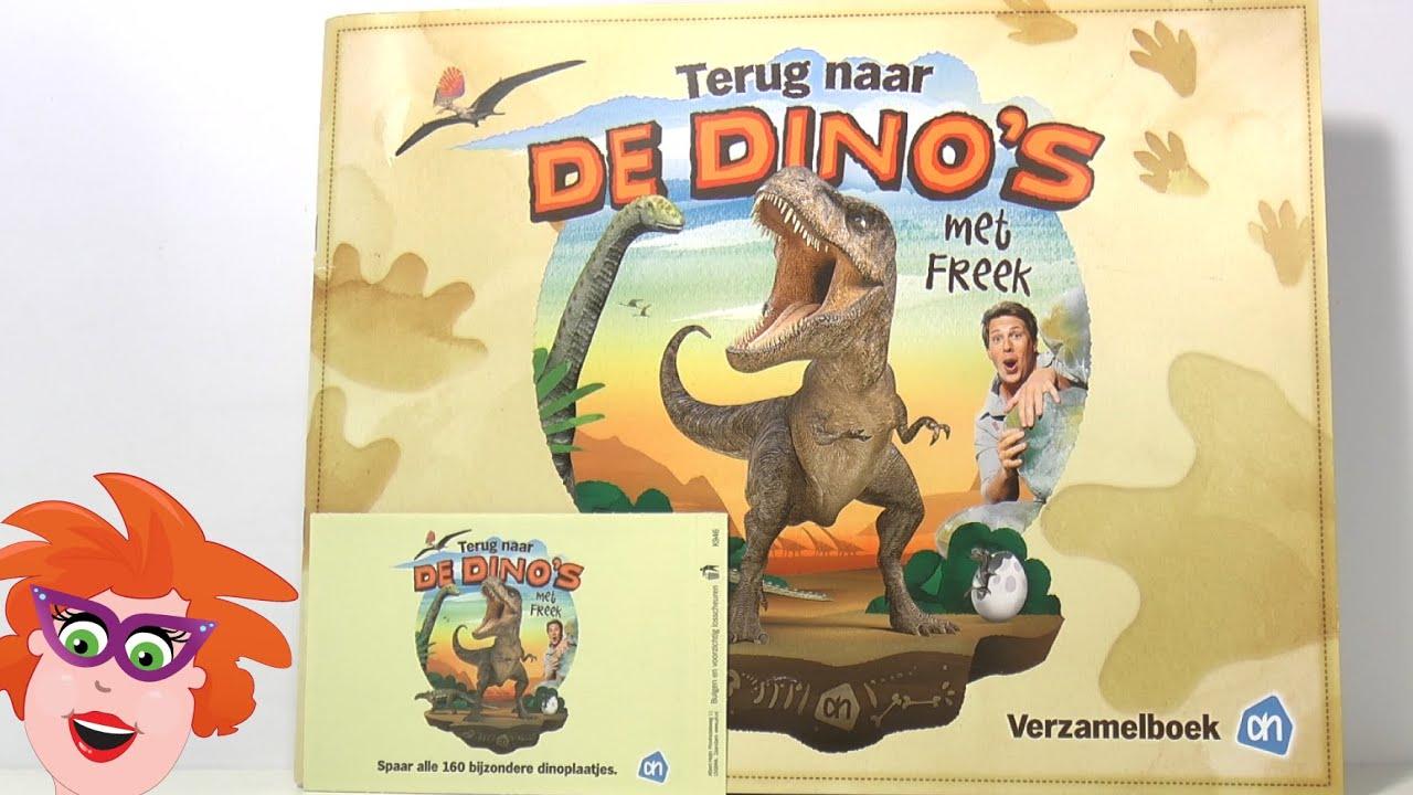 Verwonderend Albert Heijn Dino kaarten uitpakken #4 (AH dinostickers) van Freek UX-36