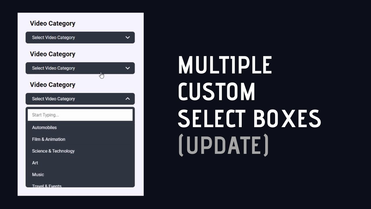 Create Multiple Custom Select Boxes In A Webpage