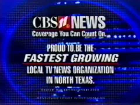 KTVT CBS 11 News at 5 2003 Open