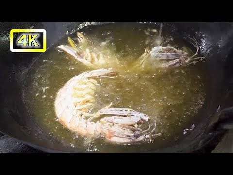 ALIEN SHRIMP(Mantis Shrimp) FRIED ALIVE [Thai Street Food]