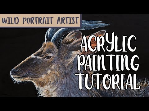 TUTORIAL: Greater kudu painting in acrylics