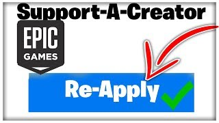 Re-Apply for Support-A-Creator | How to Re-Apply For A Creator Code in Fortnite!