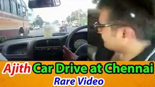 Thala Ajith driving around in Chennai Rare Video - 2DAYCINEMA.COM