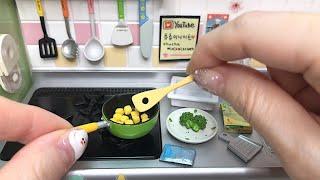 Mini kitchen Food Toys(ASMR) | Realistic Miniature cooking,Sweet Corn Soup