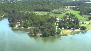 vue aerienne camping gers midi pyrenees lac de l'uby