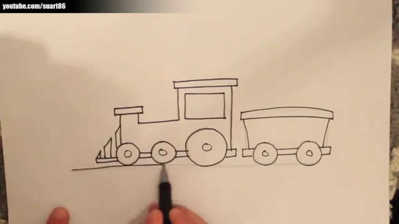 Como dibujar un tren facil - YouTube