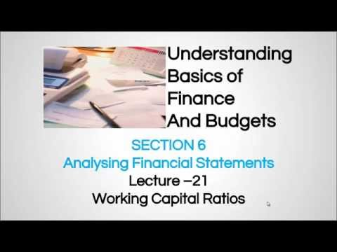 Working Capital Ratios  - Finance For Non-Financial Personnel