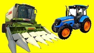 Мультфильмы для детей - Синий Трактор Ферма Комбайны Сбор Урожая| Мультик про #машинки для мальчиков