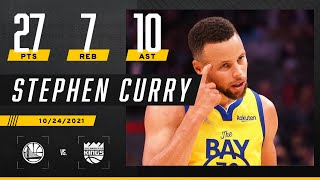 Steph Curry's 27 PTS & 10 AST help Warriors get another W