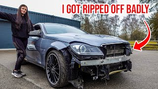 I BOUGHT MY GIRLFRIEND A WRECKED C63 AMG