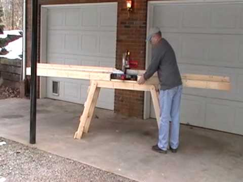 Make A Homemade Portable Miter Saw Table