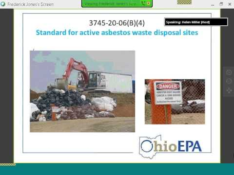 Air Pollution Regulations for Asbestos Landfills