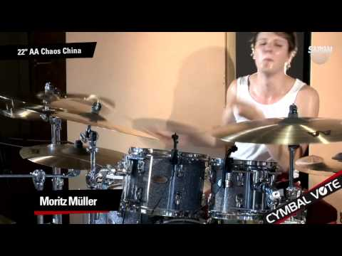 """CYMBAL VOTE - Moritz Müller Demo's the 22"""" AA Chaos China"""