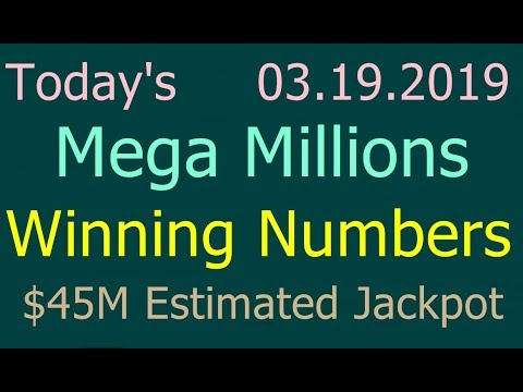 Today Mega Millions Winning Numbers 19th March 2019 Tuesday. Tonight Mega Millions Drawing 3/19/2019