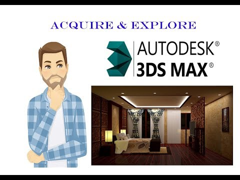 TUTORIAL ON BASICS OF  3dx max software:  EXPLAINED IN TELUGU thumbnail