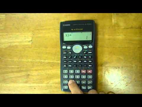 Using the Casio fx-570MS Pt001.FLV