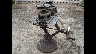 Tự Làm Máy Khoan Từ: động cơ máy giặt. Making Magnetic Drill Stand DIY.  washing machine motor