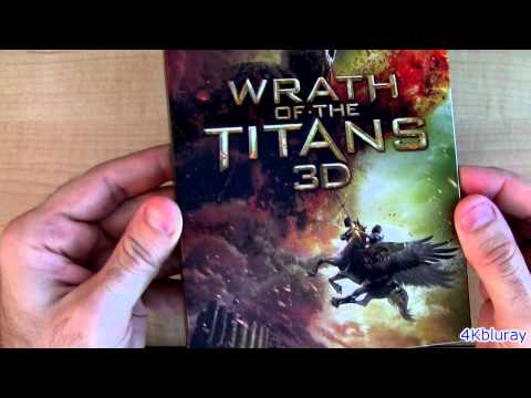 Wrath of the Titans 3D blu ray Unboxing Review Mirror Mirror blu-ray update