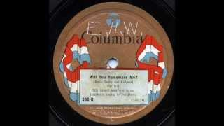 "Ted Lewis & His Band - ""Will You Remember Me"" & ""O, Katharina!"""