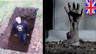 Buried alive: UK escape artist Anthony Britton's six feet under stunt goes horribly wrong - TomoNews