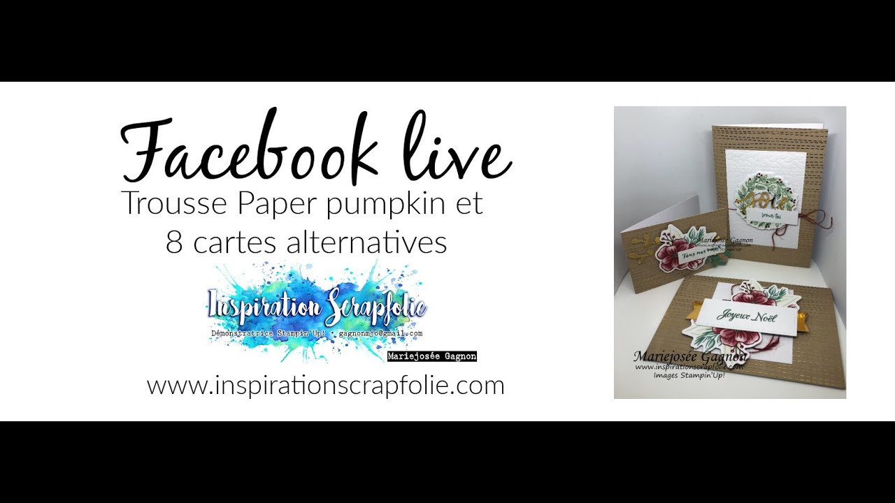 Cartes de Noel faciles   Stampin'Up!   YouTube