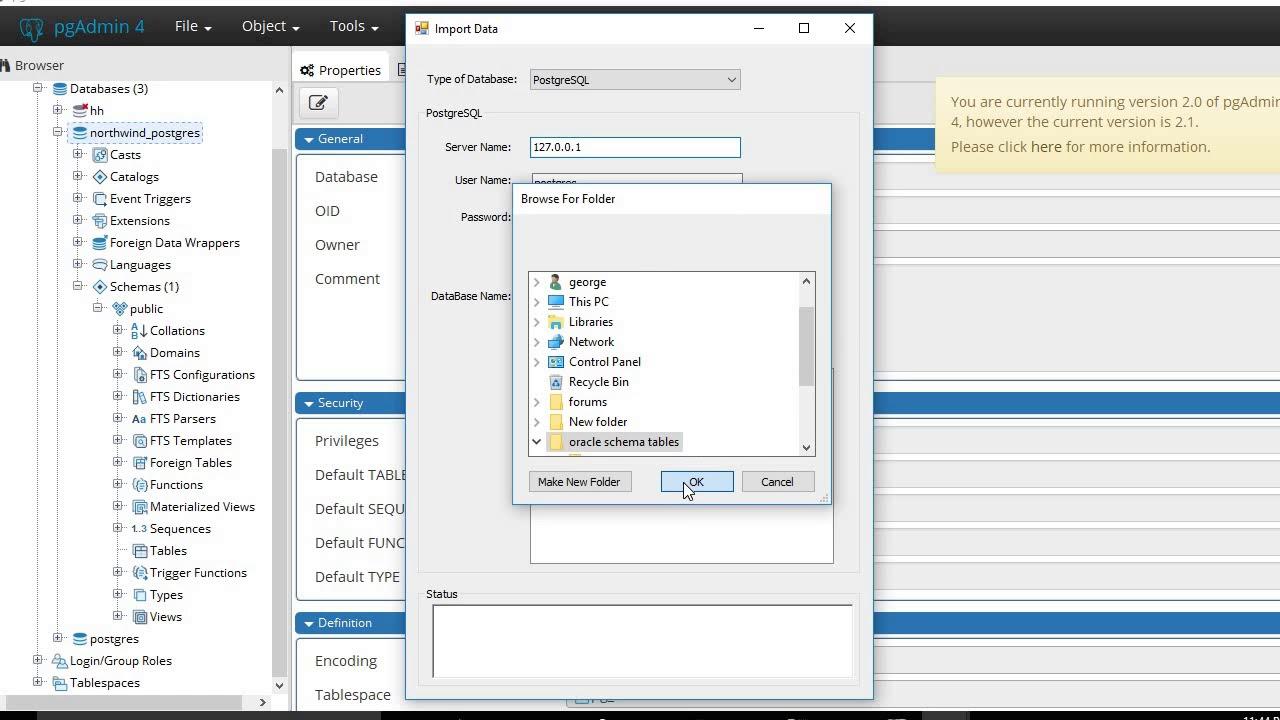 Convert Oracle to PostgreSQL