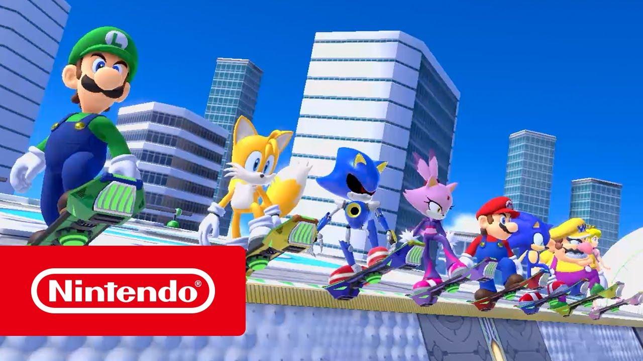 Mario Sonic Aux Jeux Olympiques De Tokyo 2020 épreuves Rêve Nintendo Switch
